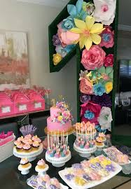 Rock Star Pastries Flowers And Butterfly Garden First Birthday