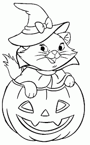 Small Picture Halloween Kitty Coloring Pages Coloring Home