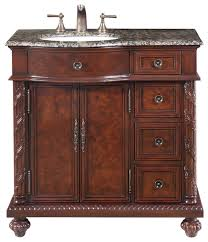 36 traditional single sink bathroom vanity left sink distressed finish