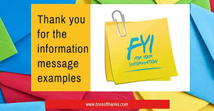 20 Thank You For The Information Email And Note Examples