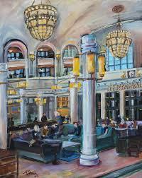 union station 20 x 16 acrylic on canvas