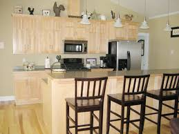 maple cabinets with maple wood edge laminate countertop