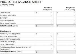 balance sheet template projected balance sheet template projected balance sheet aiyin