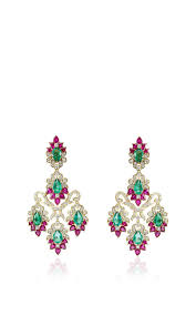 living captivating emerald chandelier earrings 16 large farah khan fine jewelry red zambian and mozambique ruby