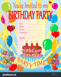 birthday party invitation card vertabox com birthday party invitation card how to make your own birthday invitations using word 8