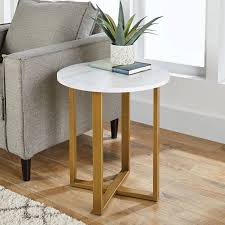 better homes gardens lana modern side table with faux marble top ideal for any room com
