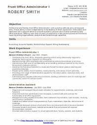 resume for front desk front office administrator resume samples qwikresume