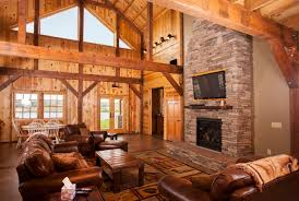 exterior design isokern fireplace with sand creek post and beam