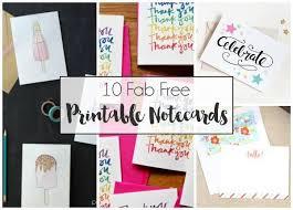 Free Printable Note Cards 10 Fab Free Printable Notecards Dawn Nicole Designs