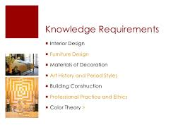 ... Interior Design ><br />; 7. Knowledge Requirements<br ...