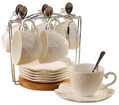 Decorative Cup And Saucer Holders Amazon Cup Saucer Sets Home Kitchen 62