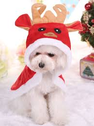 <b>Christmas Dog</b> Costume Red Flannel <b>Cloak Cat Pet</b> Clothing ...