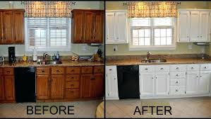 painted oak kitchen cabinets before and after. Painting Oak Cabinets White Medium Size Of Kitchen Refinishing Wood Is There A . Old Painted Before And After B