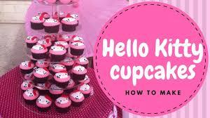 Hello Kittyhello Kitty Cupcakes Tutorial 2 Mins Irmas Fondant