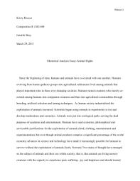 port animal rights rough draft doc rhetoric essay animal rights final draft