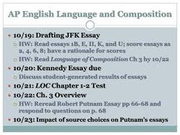 ap english language and composition rhetorical ap english language and composition 10 19 drafting jfk essay 10 19