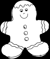 christmas cookie clip art black and white. Plain White Gingerbread Man Clipart  Jokingartcom Clipart Free Stock To Christmas Cookie Clip Art Black And White