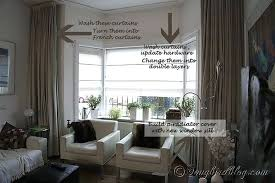 Bay Window Treatments Living Room The Useful Curtain Ideas Incredible  Curtains