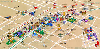 las vegas map  strip blvd hotels  bird's eye d buildings aerial