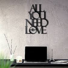 all you need is love metal wall art