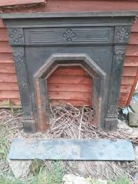 antique cast iron fireplace 100cm wide by 107cm high with hearth