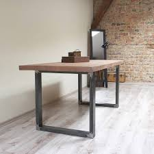 Industrial Style Rectangle Iron Legs Reclaimed Wood Top Dining TableIndustrial Look Dining Table