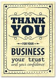 Thank You Cards With Slits For Business Card - Business Greeting ...