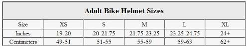 Bike Helmet Size Chart Amazon Com Bike Helmet Buying Guide Sports Outdoors