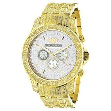cheap gold diamond watch men gold diamond watch men deals on get quotations · iced out luxurman mens diamond watch 1 25ct yellow gold tone