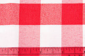 checd rectangular polyester tablecloth 60 x120 red white
