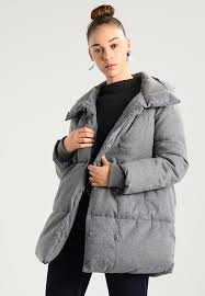 womens clothing coats winter coats new look blanket puffer winter coat mid grey dt69947