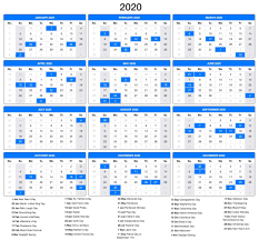 November 2020 Calendar Landscape Free Printable Calendar 2020 With Holidays Pdf Word Excel
