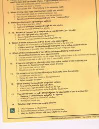 dmv permit test answers. Perfect Answers California Dmv Driving Written Test  To Permit Answers O