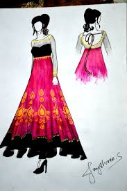 Formal Dress Sketches Images Dresses Design Ideas