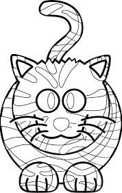 cartoon tiger black white line art coloring book colouring