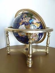 world globe on stand. Image Is Loading Blue-Semi-Precious-Gem-Stone-World-Globe-w- World Globe On Stand