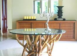 60 round glass dining table inch top modern tangle tree diameter gl