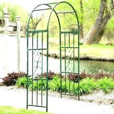 metal garden arbors arbor trellis arch 7 ft archway landscape white and australia garden entrance arched