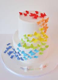 Custom Birthday Cakes Nj New Jersey Rainbow Butterfly Custom Cakes