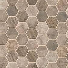 driftwood hexagon 6mm variation driftwood hexagon glass tile