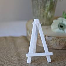 mini white wooden easel pack of three