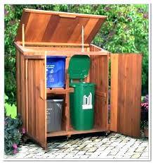 building a garbage can enclosure outdoor garbage can storage sh shed plans home design ideas garbage