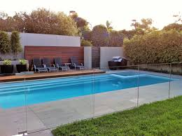 frameless channel series glass pool fencing