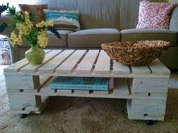 painted coffee table ideasWhite Painted Diy Pallet Coffee Table Ideas on Budget Living Room