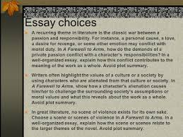 hemingway essay reminders strong thesis make any claim you want  10 essay choices a recurring
