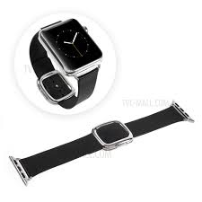 genuine leather modern style watch band for apple watch series 3 series 1 series 2 38mm