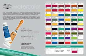 Grumbacher Finest Watercolor Paint Chart In 2019
