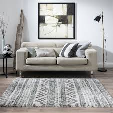 noble tribal silver rug