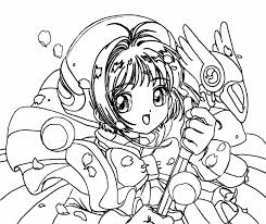 Cute Anime Coloring Pages Printables