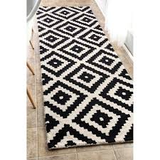 architecture black and white runner rug new nuloom handmade abstract pixel trellis off wool